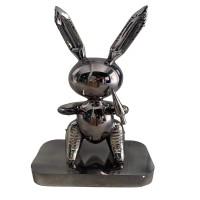 Mô hình chú thỏ sơn tráng gương nghệ thuật độc đáo