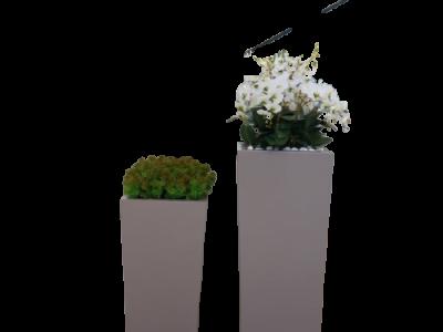 Sử dụng chậu trồng hoa composite cho doanh nghiệp thương mại