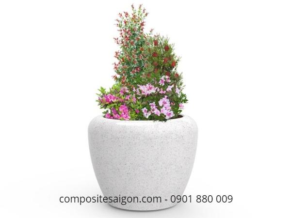 Bồn hoa mini composite đẹp