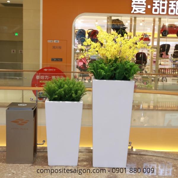 Đơn vị nhận làm chậu hoa composite cao cấp