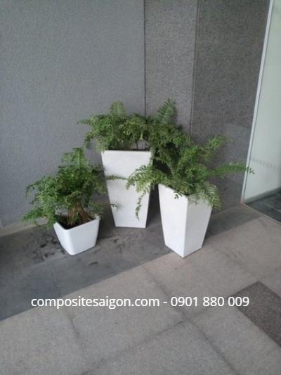 Gia công chậu hoa composite tại HCM