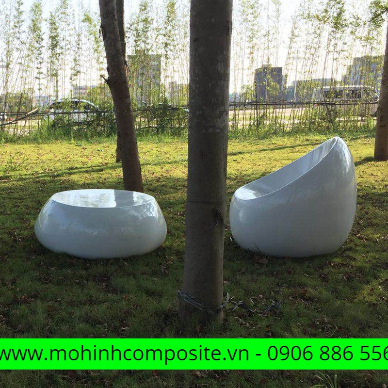 bộ bàn ghế composite