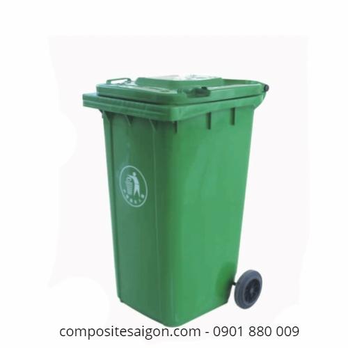 Thùng đựng rác composite có nắp đậy