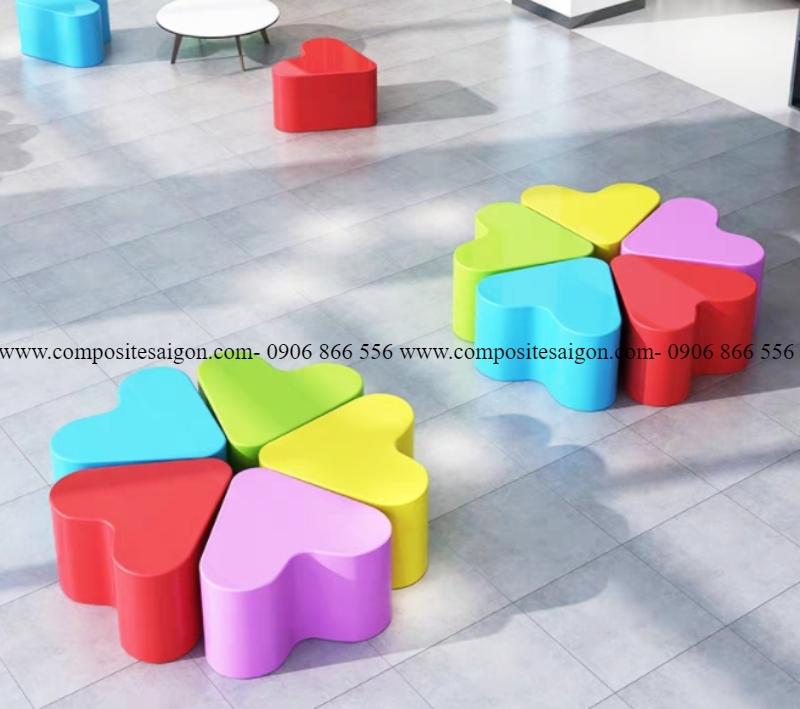 bàn ghế mầm non composit