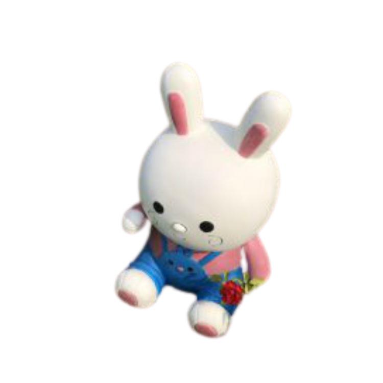 Mô hình thỏ trắng dễ thương trang trí