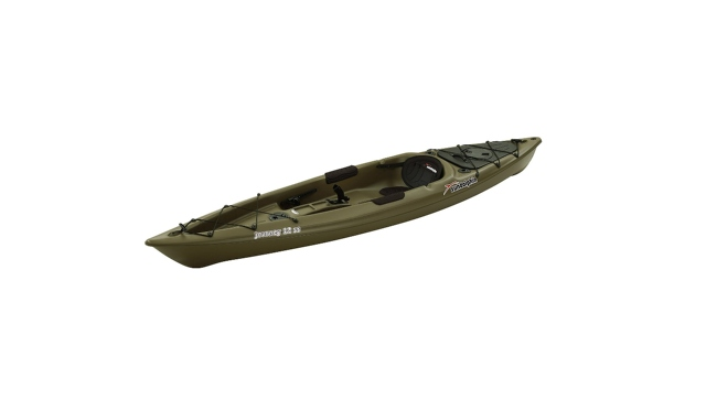 Thuyền câu kayak đơn chất liệu composite trang bị hiện đại.