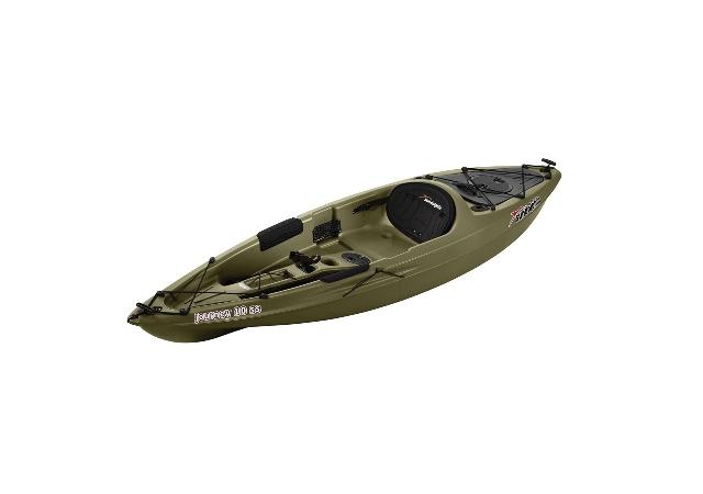 Thuyền kayak đơn composite nguyên khối màu xanh rêu độc đáo