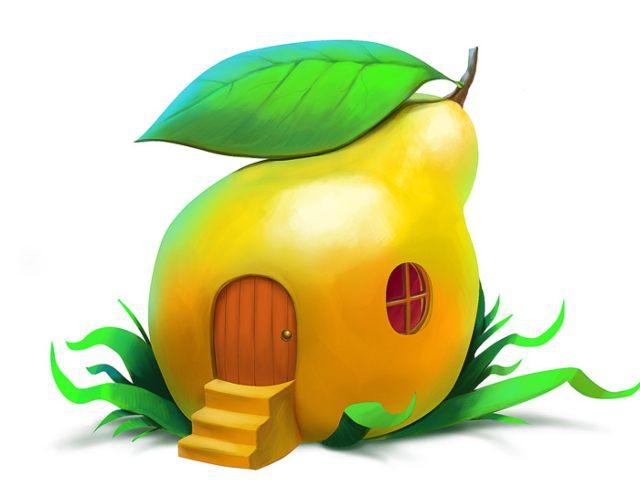 Nhà lắp ghép composite【trái cây】
