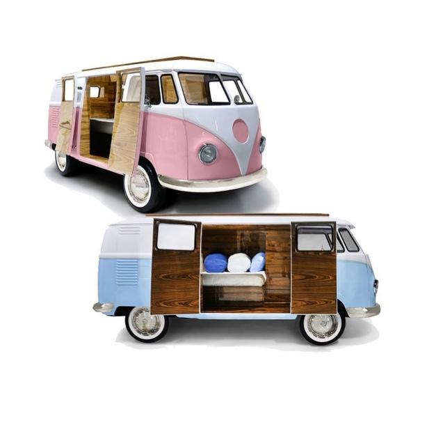 Xe bus volkswagen cổ【ngôi nhà mini cho bé】composite frp