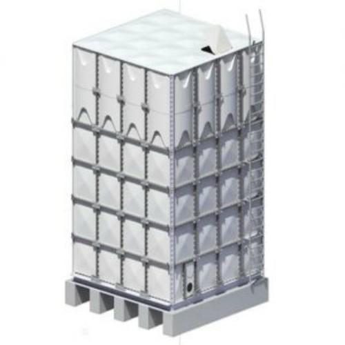 Bồn nước composite lắp ghép frp hiện đại