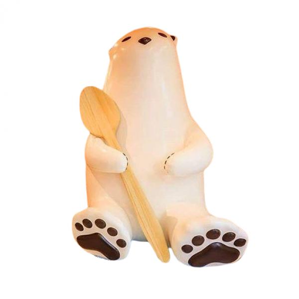 Mô hình chú gấu trắng bằng composite