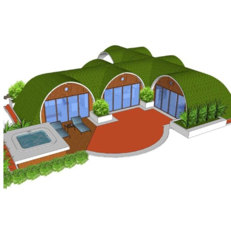 Khu nghỉ dưỡng xanh từ hệ thống nhà lắp ghép thông minh
