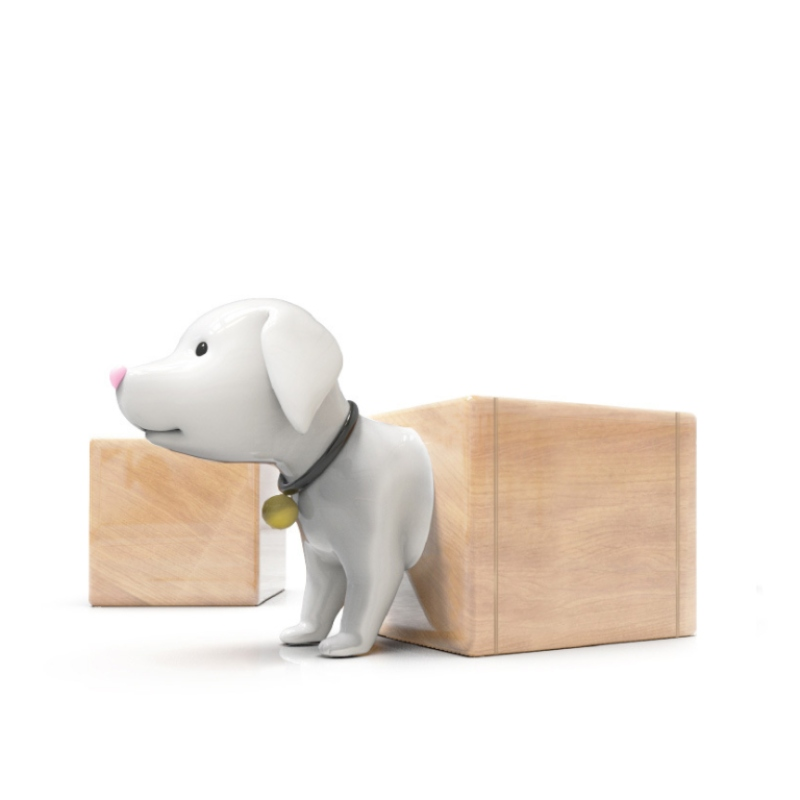 Ghế ngỉ ngơi trung tâm thương mại hình chú chó bằng composite