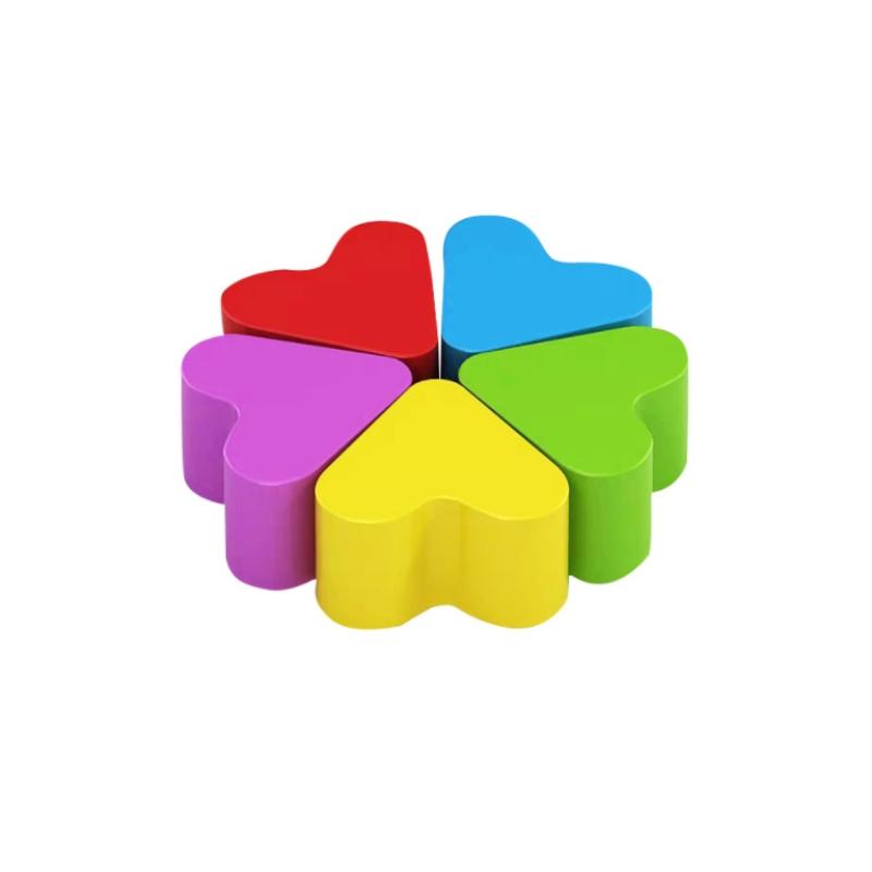 Bộ ghế trái tim bằng nhựa composite lắp ghép cao cấp nhiều màu