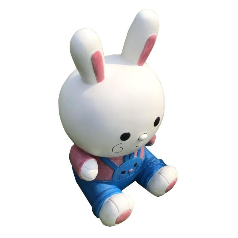 Mô hình tượng chú thỏ đáng yêu làm từ composite cao cấp