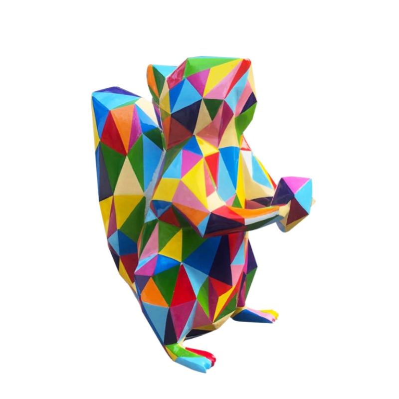 Mô hình nhựa composite chú sóc nhiều màu nổi bật