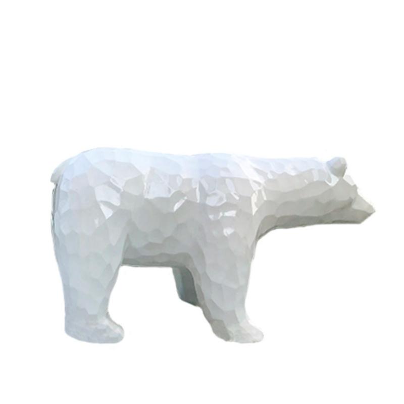 Mô hình gấu bắc cực bằng nhựa composite trang trí ngoài trời