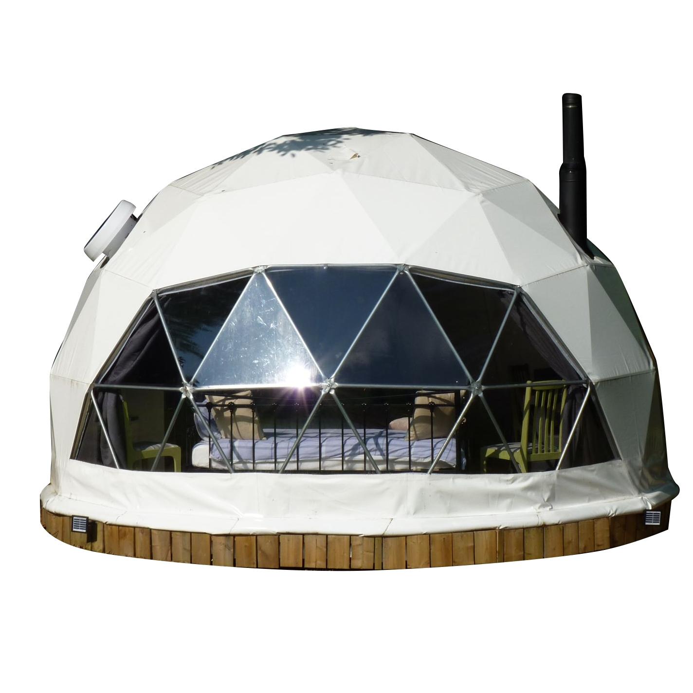 Căn nhà lắp ghép composite mái vòm