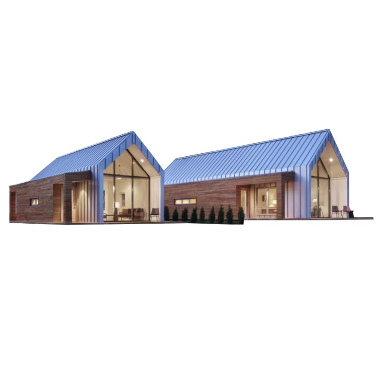 Nhà lắp ghép mô đun composite đẹp thiết kế cửa kính đẹp