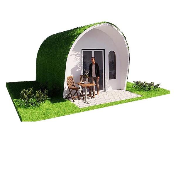 Nhà composite đúc sẵn [dome composite] cao cấp