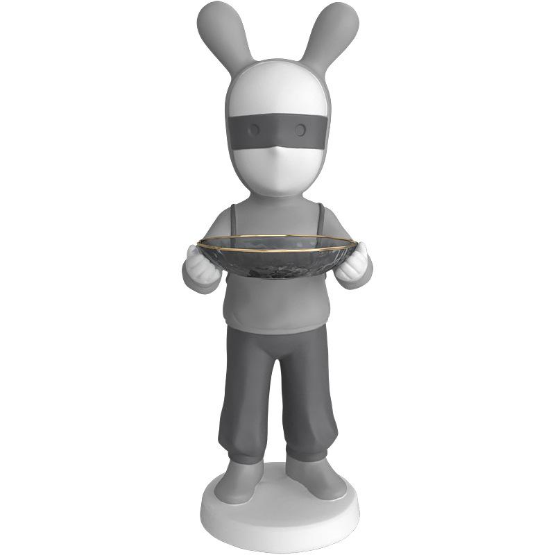 Mô hình trang trí người thỏ composite chất lượng