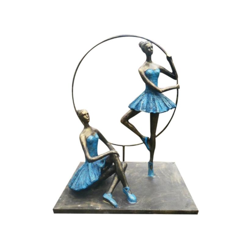 Tượng điêu khắc vũ công bale bằng nhựa phong cách châu âu